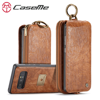 CaseMe Leather Handbag Case for Samsung Galaxy Note 8 2 in 1 Multi function Wallet Case for Galaxy Note 8 Detachable Back Cover