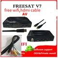 Freesat V7 10pcs dhl +10 pcs WIFI DVB-S2 HD satellite receiver Youtube PowerVU CCa z5 mini Newca freesat v7 wifi