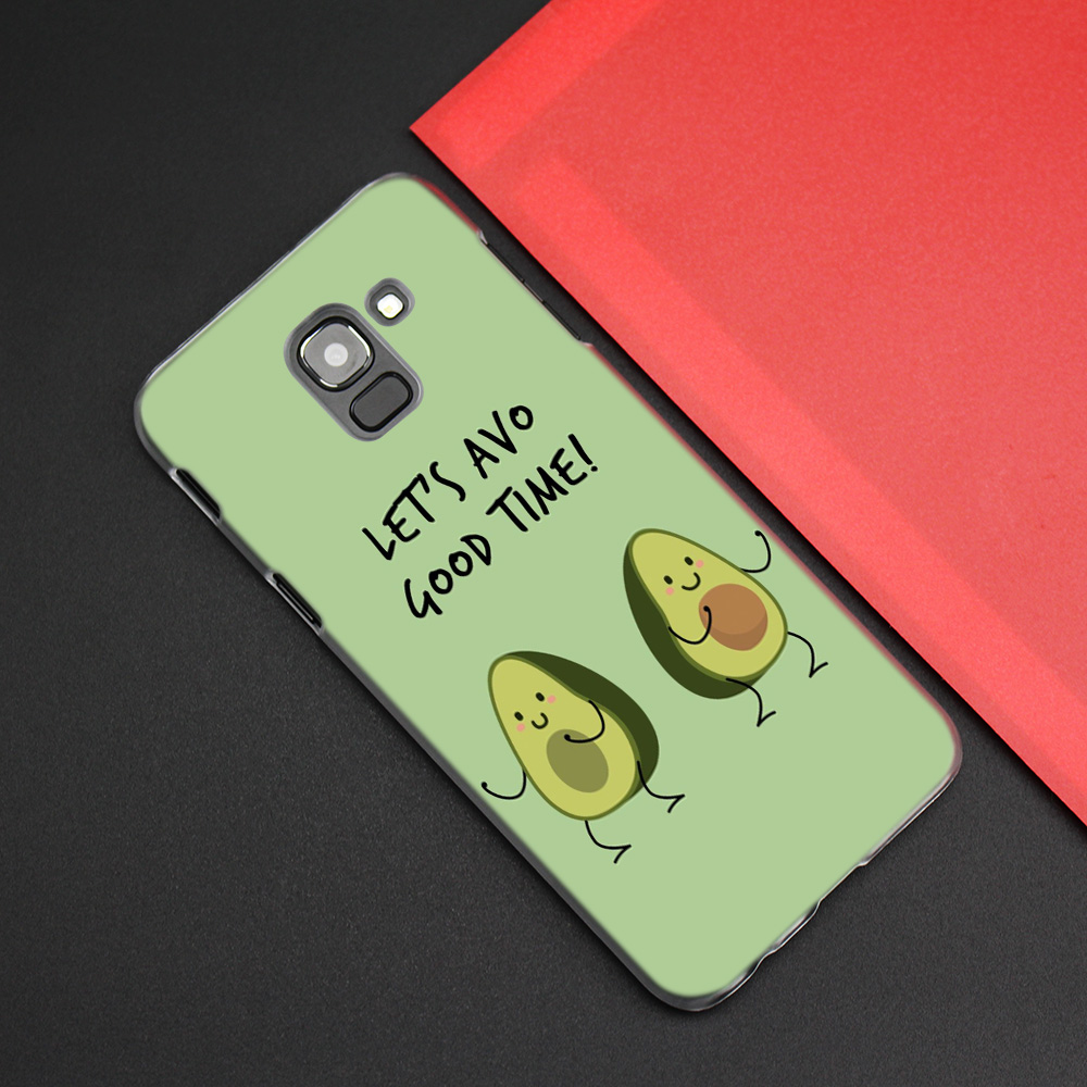 Image 5 - Cute Avocado Food Pattern Case Cover for Samsung Galaxy J7 J5 J8 J6 J4 J3 J2 Plus Prime 2017 2018 2016 J8+ J6+ J4+ Hard PC Coque-in Half-wrapped Cases from Cellphones & Telecommunications