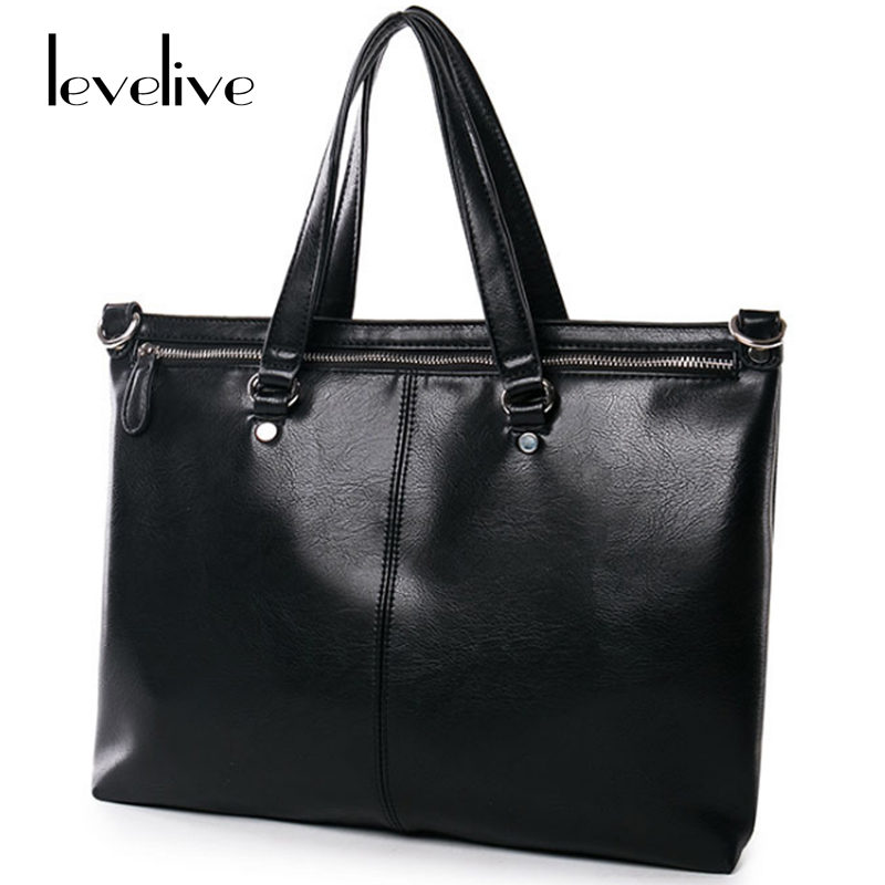 LEVELIVE Fashion Men's Briefcase Leather Messenger Bag Men Handbag Famous Brand Mens Design Shoulder Crossbody Bag Male bolsa rowling original design new men s handbag male double screw lock design trend package shoulder bag messenger crossbody bag mb15