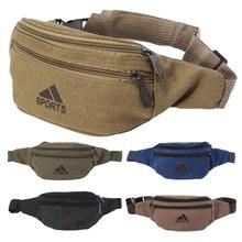 THINKTHENDO Fashion Durable Men Fanny Waist Pack Belt Hip Bum Military Bag Pouch Three Zipper Pockets striped design zipper front bum bag