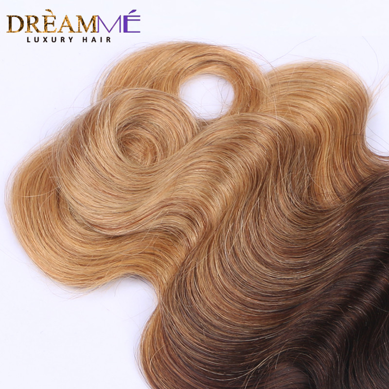 Dreaming Queen Hair Body Wave Ombre Brasilian Human Non Remy Hair 3 - Menneskehår (sort) - Foto 5