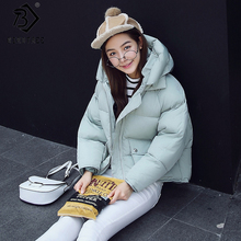 7 Color! Winter 2017 New Women Jackets Short Cute Oversized Cotton Padded Coats Causual Warm Hoodies Loose Padded Parkas C79505A