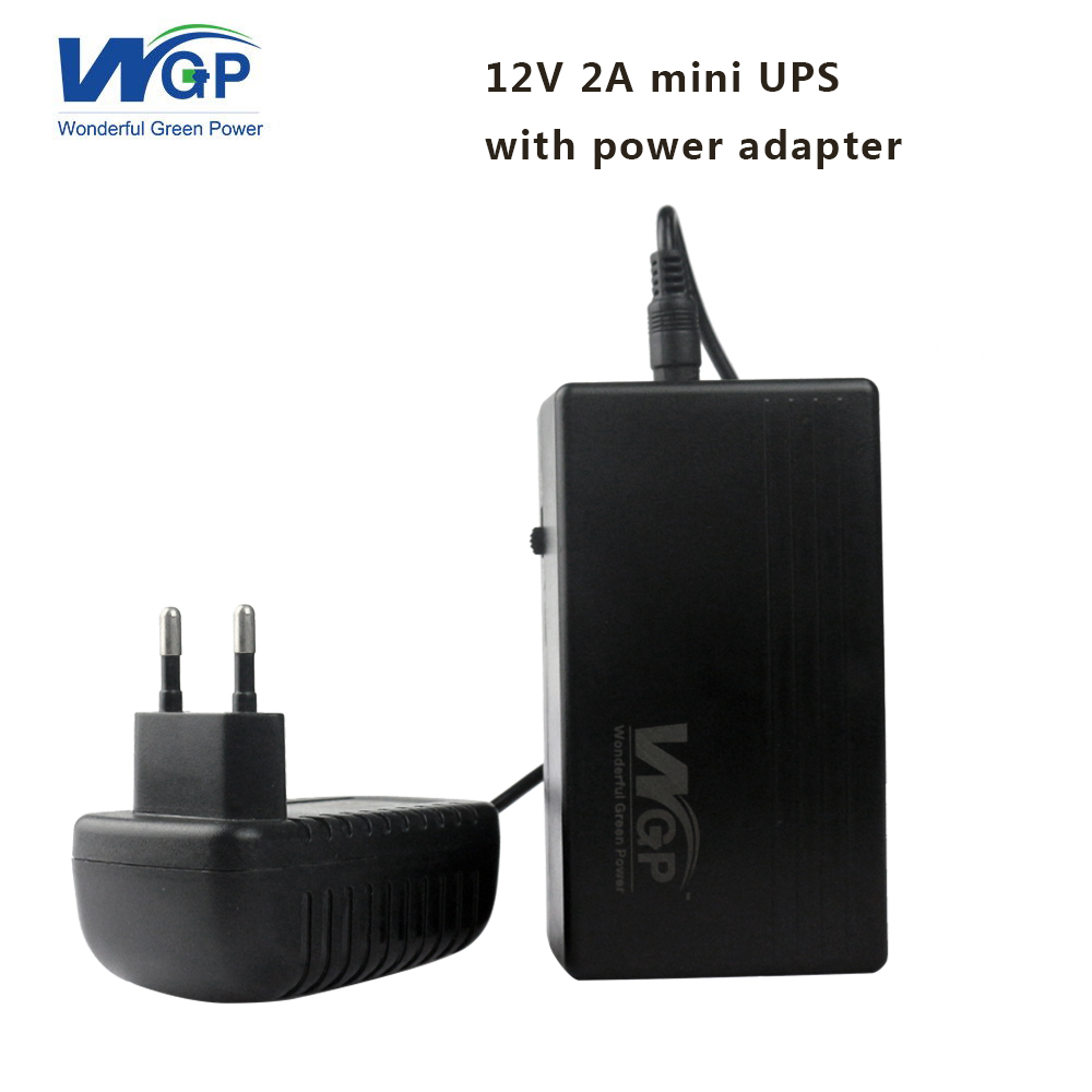 High capacity 7800mAh mini ups 12V 2A dc uninterruptible power supply ups for camera and router + 12V power adapter EU plug 12v 2a 22 2w ups uninterrupted power supply 111 x 60 x 26mm backup power mini battery for camera router