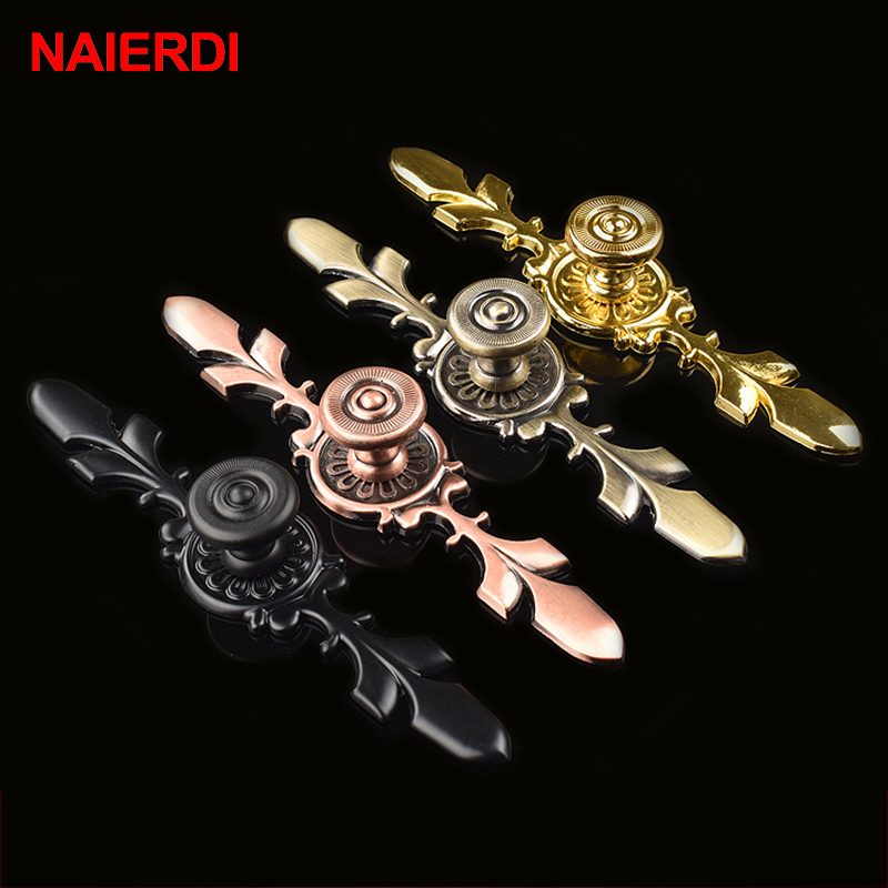 NAIERDI 170MM Black Handles Zinc Alloy European Modern Pulls Knobs For Door Cupboard Wardrobe Furniture Drawer Cabinets Hardware