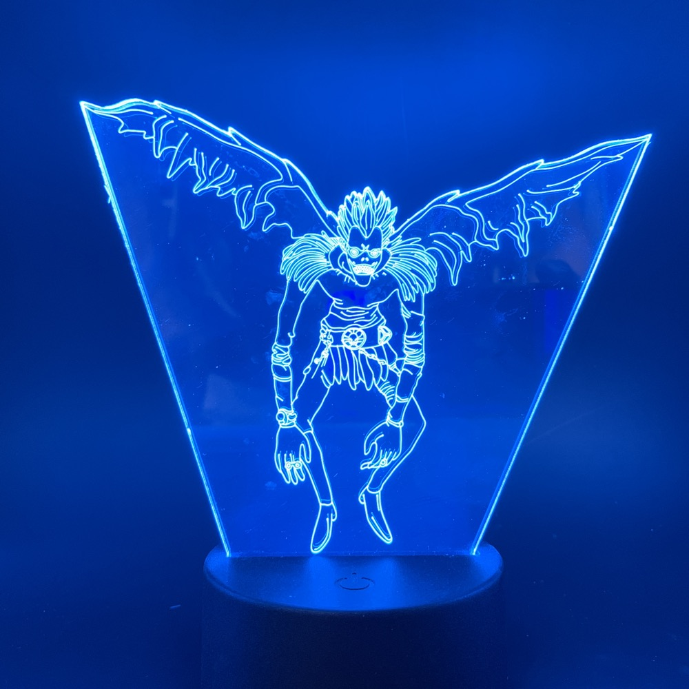 Led Night Light Japanese Manga Death Note Ryuk Figure Touch Sensor Color Changing Nightlight For Kid Child Birthday Gift Lamp 3d