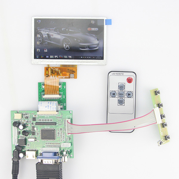 "HDMI VGA 2AV Controller  Drive Board for Raspberry pi 4.3"" 480*272 LCD Display Free Tracking"
