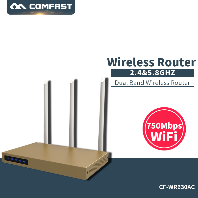 2017 New come ! COMFAST 750Mbps 2.4G + 5.8G wireless wifi router 3*6dBI antennas signal booster 802.11ac wi-fi amplifier comfast cf wr635ac 750mbps 802 11ac dual band wireless router with 6 6dbi antenna wifi 128mb wi fi router wi fi coverage 600sq m