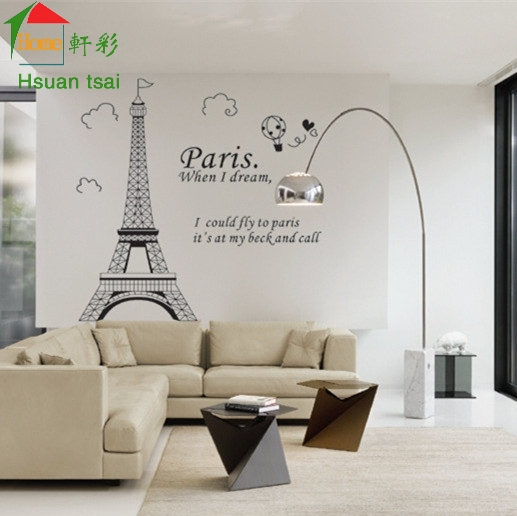 Eiffel Tower In Paris Bedroom Living Room Sofa Wall Decals House Decoration Diy Vinyl Stickers Home Decor Wallpaper Mural From