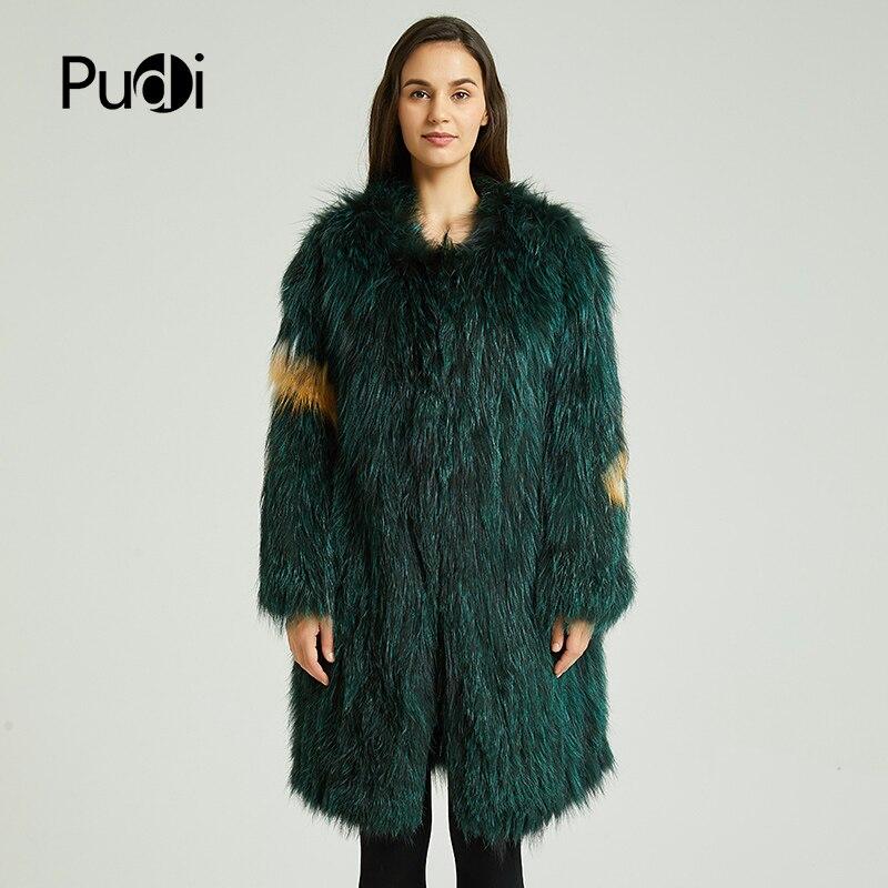 Ct837 Loisirs Fille Réel 2018 Sur Femmes Pudi Veste Mode Manteau Automne Long Hiver Fourrure Silver Fox Nouvelles De d7wYY6