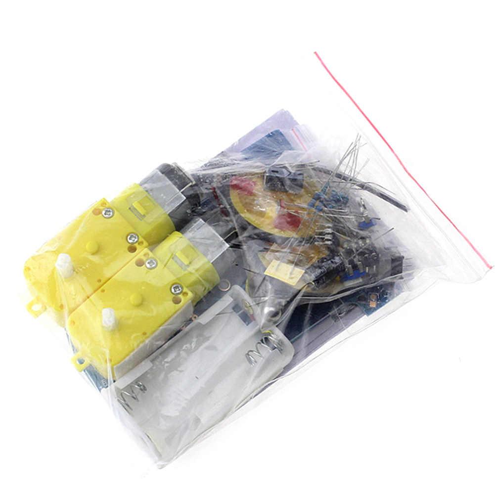 Детский мотор школы DIY игрушечный автомобиль робот линия следующая Электроника пайка проект Обучающий набор отслеживание соревнований смарт