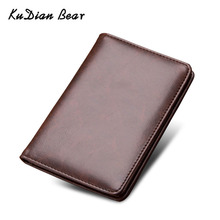 KUDIAN BEAR Leather Passport Cover Men Travel Credit Card Holder Cover Russian Passport Wallet for Document BIH066 PM49 new pu leather passport cover holder women men travel credit card holder travel id card document passport holder