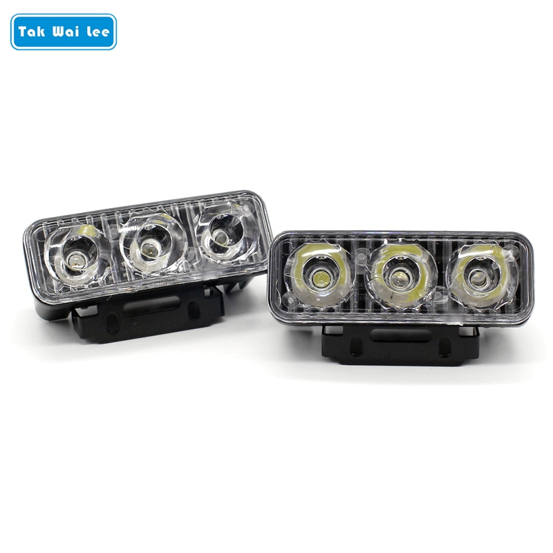 Tak Wai Lee 2Pcs/Set LED DRL Daytime Running Lights Work Lamp Car Styling Source Waterproof Parking Day Light For 4WD 4X4 SUV