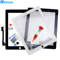 Netcosy Touch Screen Digitizer Front Touch Panel Glass For IPad 2 3 4 TouchScreen Replacement Spare