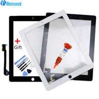Netcosy Touch Screen Digitizer Vorder Touch Panel Glas für iPad 2/3/4 TouchScreen Ersatz Ersatzteil TP + reparatur Werkzeuge + Kleber