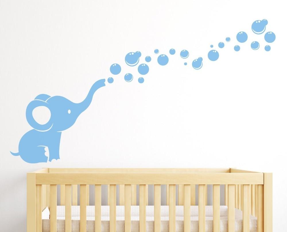 Ziloņu burbuļu bērnudārza sienas dekoru istabas dekors - Mājas dekors - Foto 2