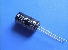 500PCS 1000uF 25V 1000uF 25V electrolytic capacitors Free shiping 10mm 17mm best quality