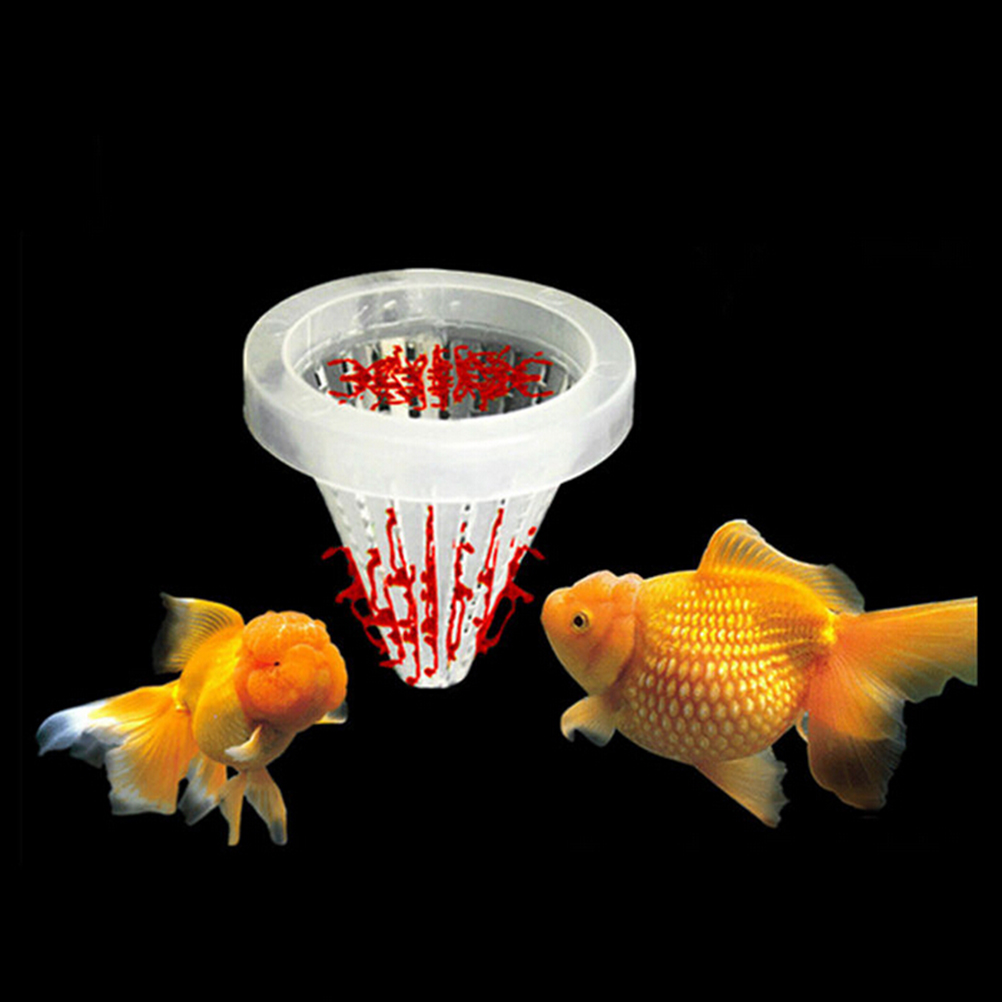 Height 6.7cm Aquarium Basket Feeder Fish Food Live Worm Bloodworm Angel Cone Feed Tool Dia 6.8cm image