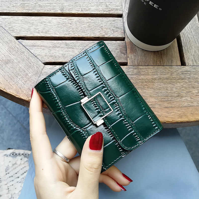 2019 New Fashion Unisex Business Card Holder Alligator Pattern Leather Small Coin Purse Bank Credit Card Case Women Cardholder