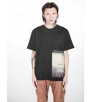 2018 Summer New Print T Shirt Men Loose Fit Fashion Cotton Vintage T Shirts High Quality