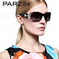 Parzin Óculos De Sol Mulheres Polarizada Elegante Fêmea Laço Senhoras Shades Oculos Gafas Sunglases Com Caso de Óculos de Sol 9218 Preto