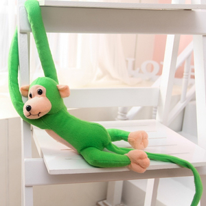 Image 2 - 1 pcs 70CM Hanging Long Arm Monkey from arm to tail Plush Baby Toys colorful Doll Kids Gift