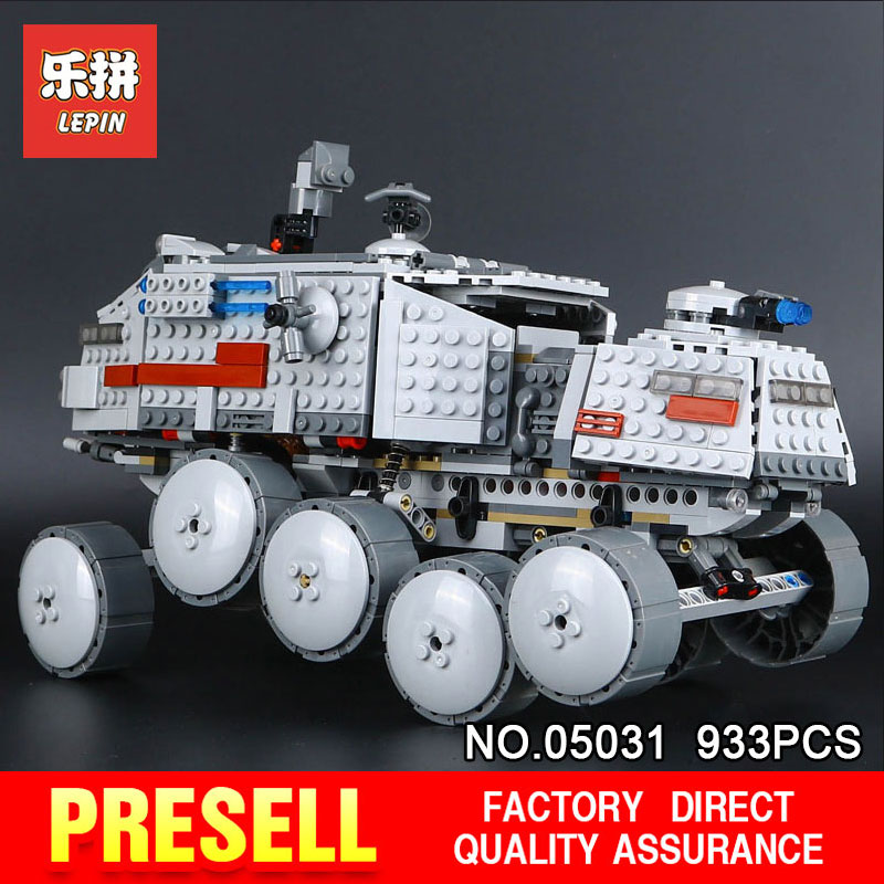 LEPIN 05031 Star Classic 933Pcs Wars Clone Turbo Tank 75151 Building Blocks Bricks Compatible with 75151 Children Toys Gifts lepin 05034 star classic toy wars stunning the assemble shuttle building blocks bricks assembled toys compatible with 10212 gift