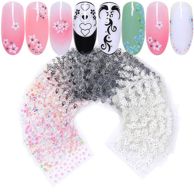 3D Nail Sticker Adhesive Flowers
