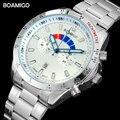 Мужские часы Лидирующий бренд Модные кварцевые часы BOAMIGO повседневные стальные Авто Дата часы 2020 горячий подарок наручные часы relogio masculino