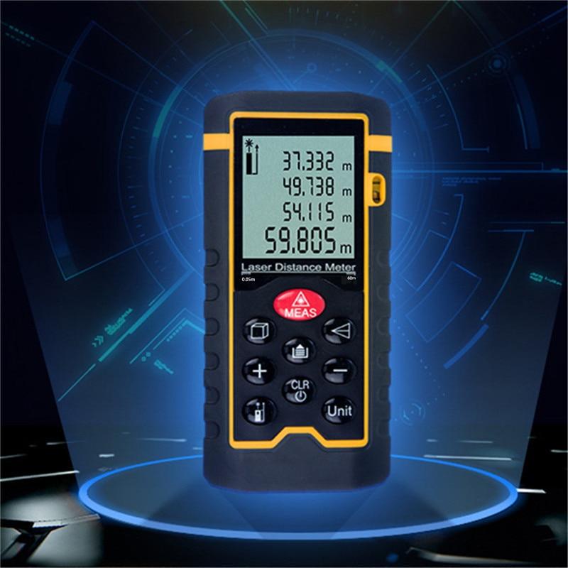 купить Laser Rangefinder 60m Diastimeter Handheld Digital LCD Distance Meter Range Finder Measure Construction Measurer BuildingTools недорого