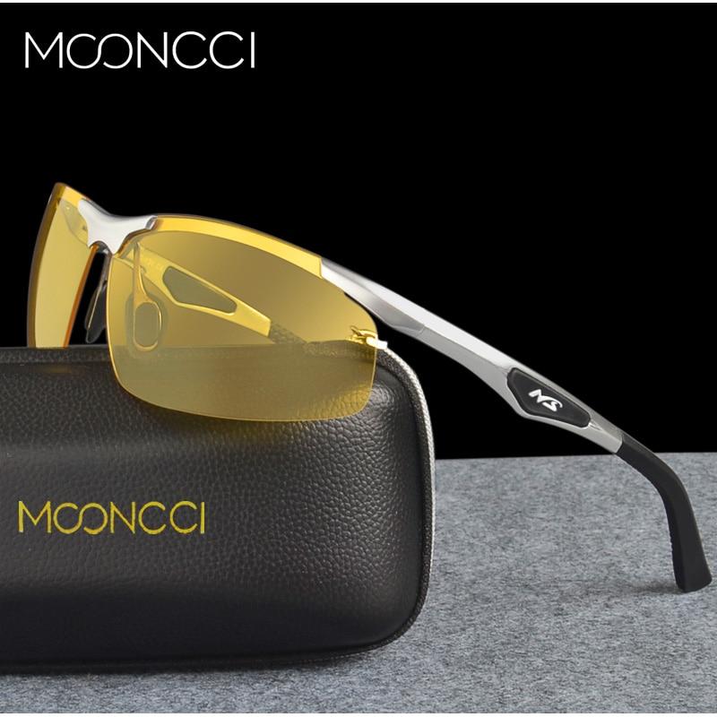 MOONCCI Brezsramna rumena očala za nočno vožnjo Moška sončna - Oblačilni dodatki