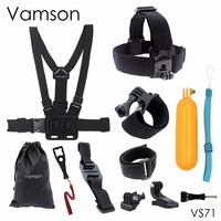 Head Strap Chest Strap Helmet Belt Floaty Bobber Wrist Band Wrench Mount Screw For Gopro Hero