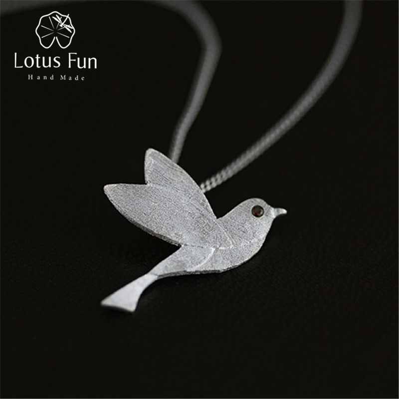 Lotus Fun Real 925 Sterling Silver Handmade Fine Jewelry Pigeon Pendant without Necklace Acessorios for Women lotus fun real 925 sterling silver handmade fine jewelry creative cat playing balls pendant without chain acessorios for women