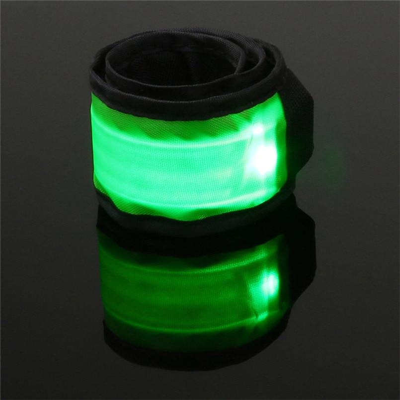 Outdoor Plastic Nylon 4PCS LED Wristband Safety Reflector Bracelet Luminous Band For Running Cycling