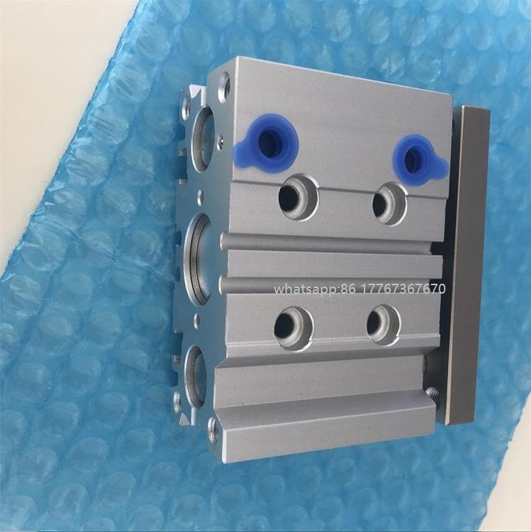 SMC type MGPM40-10 three rod three shaft slide bearing compact guided air pneumatic cylinder with magnet mgpm 40-10 40*10 40x10 high quality double acting pneumatic gripper mhy2 25d smc type 180 degree angular style air cylinder aluminium clamps
