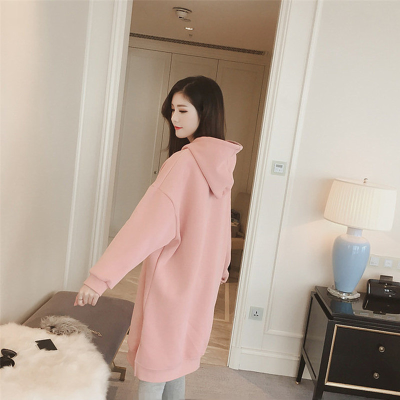Pregnancy & Maternity Women Top Maternity One-piece Dress Long-sleeve Winter Thickening Maternity Sweatshirt Outerwear Clothing For Pregnant Women Mother & Kids