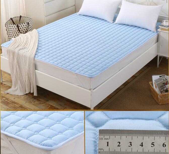 200*180CM Washable Cotton Mattress Anti-Slip Hotel Mattress Bed Protection Mat