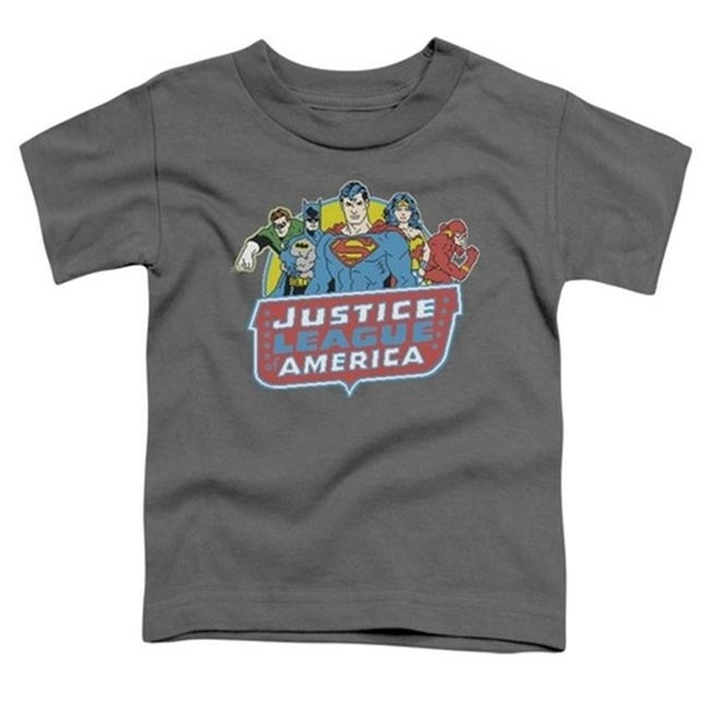 Trevco Dc-8 Bit League – Short Sleeve Toddler Tee – Charcoal Small 2T