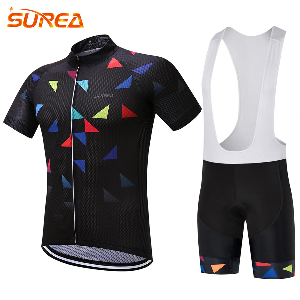 SUREA Pro Summer Cycling Jerseys Clothing Breathable MTB Bike Clothing Road Bicycle Sportswear Maillot Ropa Ciclismo For Man cycling clothing rushed mtb mavic 2017 bike jerseys men for graffiti cycling polyester breathable bicycle new multicolor s 6xl