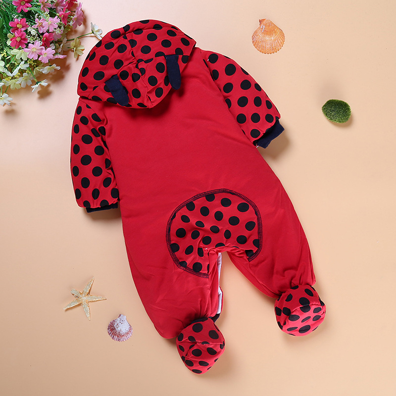 Image 5 - Winter Baby Rompers Boy Girl Coat Parkas Suit Children Clothing Romper Newborn Kids Clothes Layette Down Jumpsuit Set-in Rompers from Mother & Kids