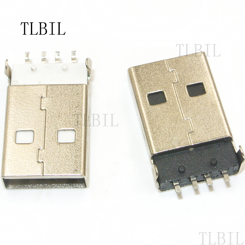 Computer Cables 2Pcs USB 3.1 Type C Female Socket Connector 24pin 180 Degree Vertical PCB High Speed DIY Connectors Cable Length: Other