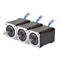 3PCS Nema 17 Stepper Motor 60mm 65Ncm(92oz.in) 2.1A 4 lead Nema17 Step Motor 42BYGH for 3D Printer CNC XYZ Motor