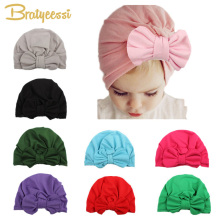 Fashion Baby Girl Hat with Bow Candy Color Infant Baby Beanie Cap Accessories 1 PC