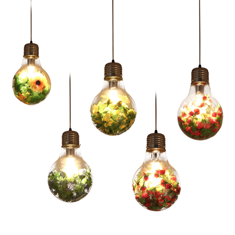 Christmas decorations for home LED Bulb E27 Vintage plant/flower LED pandent Lamp Color Fairy Light Wedding Party Home Deco lamp home for christmas