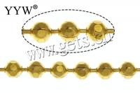 Free shipping!!! Bulk Jewelry gold color plated nickel lead cadmium free 2.40mm Length:100 m Sold By Lot Brass Ball Chain DIY