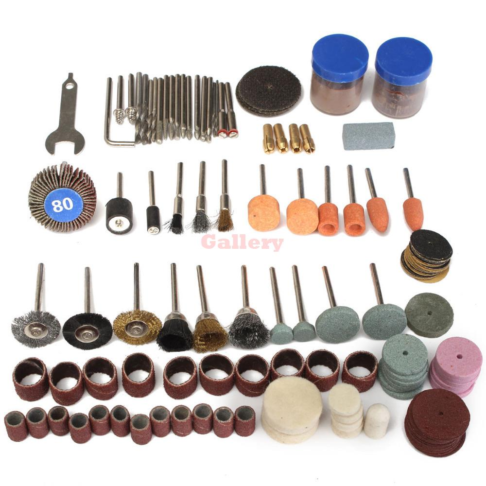 136 Pcs Rotary Tool Accessories Bit Set Polishing Kits for Dremel Drill 4000 Abrasive Tools Drill Bit Set Rotary Tool Drill Bit 6 pcs dremel rotary tool mini drill bit set cutting tools for woodworking knife wood carving tools kit wood tools accessories