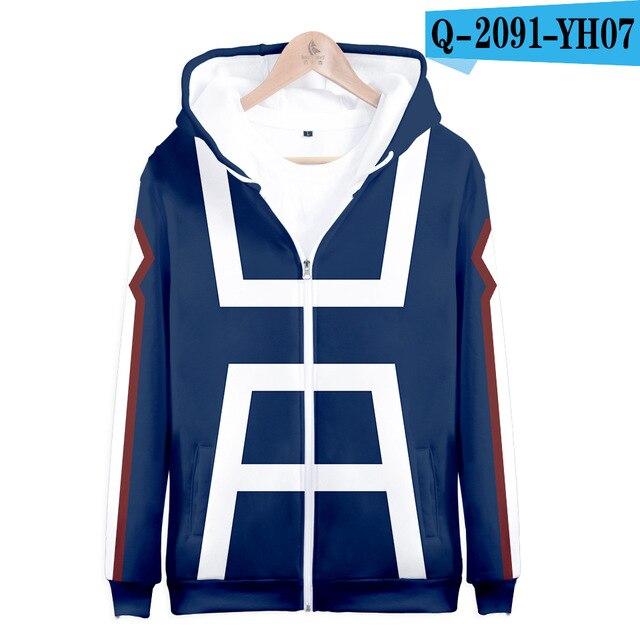 My hero academia hoodies izuku midoriya shouto todoroki boku no hero academia Cosplay Costume Sweatshirt boys girl Zipper Jacket 15