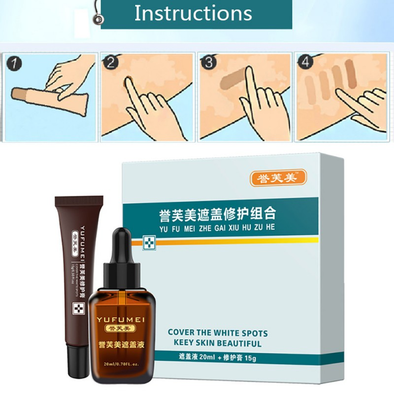 New Scar Tattoo Skin Repair Cream Cover Hiding Spots Birthmarks Concealer Set Waterproof Kit For Coverage Vitiligo 2019