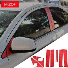 Carbin Fibre авто окна АВС средний столб наклейки для Mitsubishi Lancer CB036
