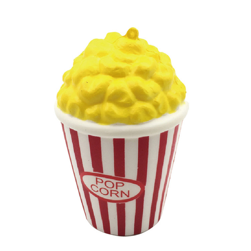 Squeeze Popcorn <font><b>Cup</b></font> Squishy Slow Rising Decompression Stress Reliever Phone Strap Toy Gift <font><b>Healing</b></font> Stress